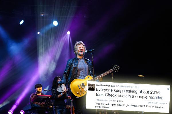 En 2 meses Bon Jovi anunciarán sus primeras fechas de la gira.